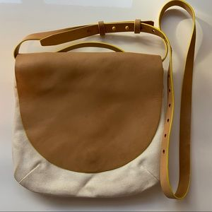 Kate Spade Saturday leather and canvas crossbody